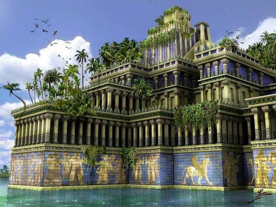Hanging Gardens of Babylon one of the most famous sights of the ancient world