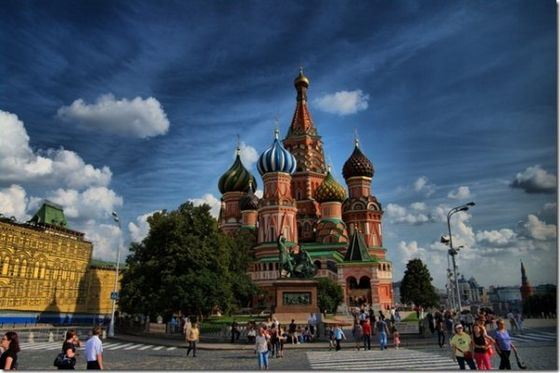 St. Basil's Cathedral is a cult place in Red Square