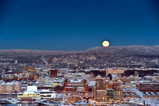Столица Норвегии зимой