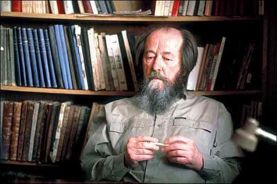 Alexander Solzhenitsyn is the author of books known throughout the world.