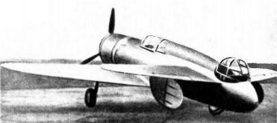 «Ш-тандем» один из первых маленьких самолетов был выполнен из дерева
