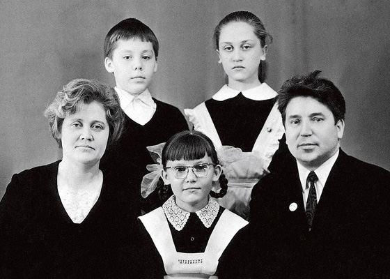 Елена Малышева и ее семья