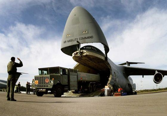 The huge Lockheed C-5 Galaxy is used for military purposes.
