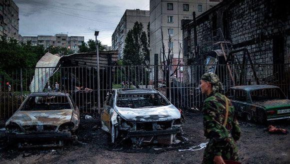 Съемочная группа ANNA-News пострадала в результате обстрела Луганска