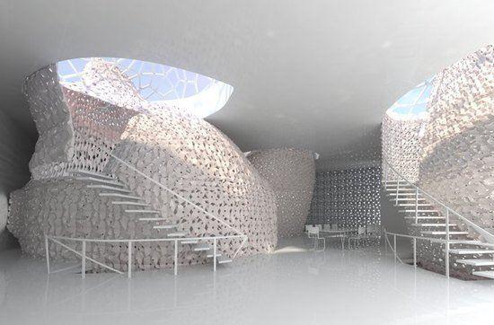 Предложен уникальный интерьер, сделанный из соли на 3D-принтере