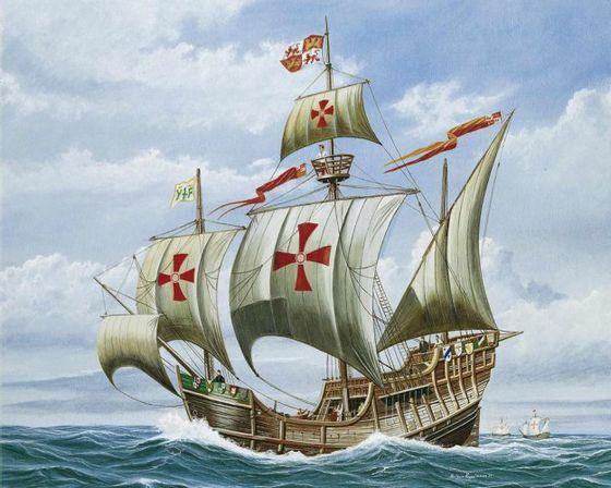 Корабль великого путешественника Колумба