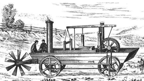 Оливер Эванс создал первый автомобиль-амфибию