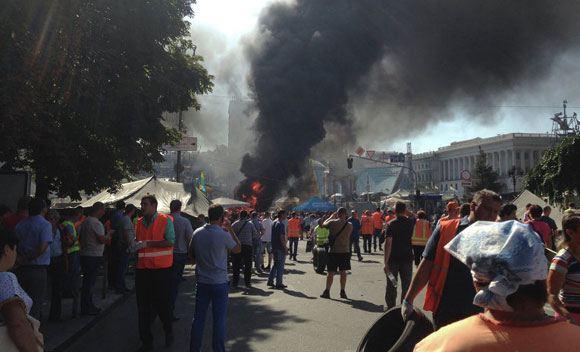 В Киеве эвакуировали городскую госадминистрацию, опасаясь захвата здания