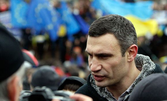 Mayor of Kiev talked with the residents of the tent camp