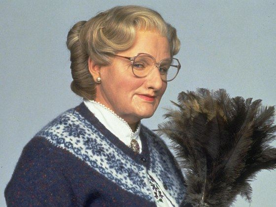 """Robin Williams in the role of """"Mrs. Doutthaire"""""""