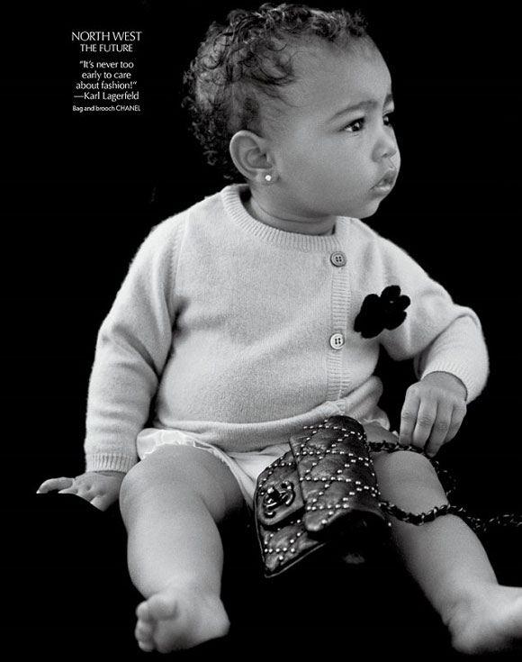 Норт Уэст дебютировала в качестве модели