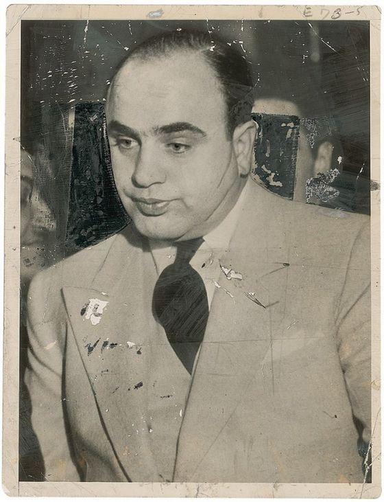 Аль Капоне признан самым известным преступником в мире