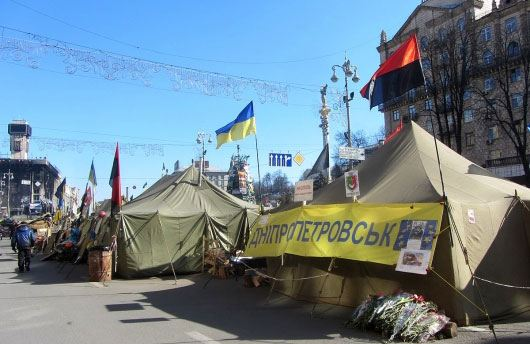 В центре украинской столицы избили журналистов