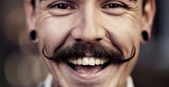 Long mustache - a sign of a friendly disposition