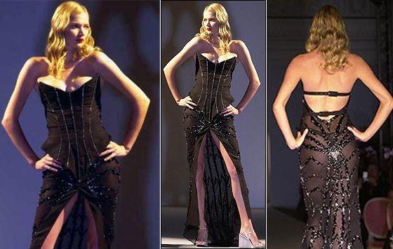 Дорогое черное платье от Марии Грахфогель