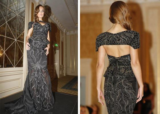 Дорогое платье от британского дизайнера