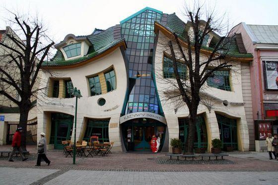 «Кривой дом» в городе Сопот ломает логику