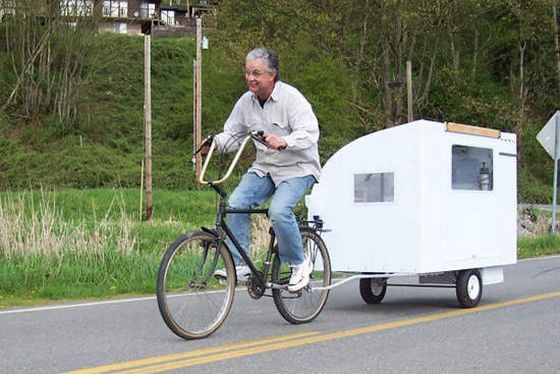 Велодом - самый дешевый дом на колесах