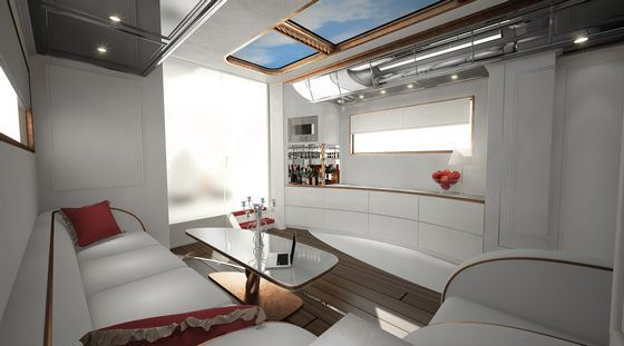 Интерьер самого роскошного дома на колесах, созданного компанией «Marchi Mobile».