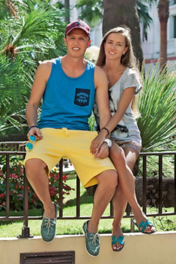 Igor Vernik with his new girlfriend on vacation