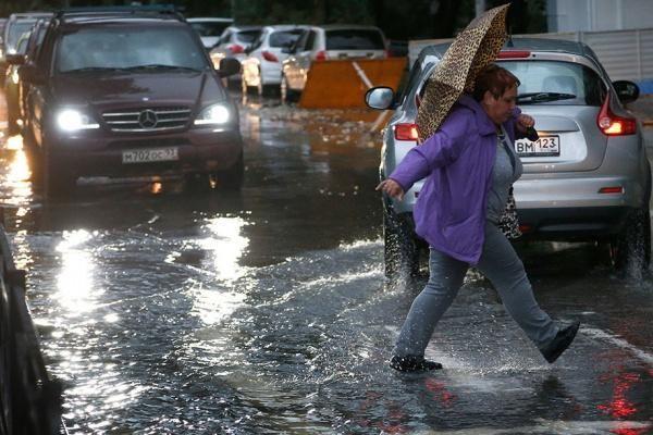 Улицы оказались залитыми водой