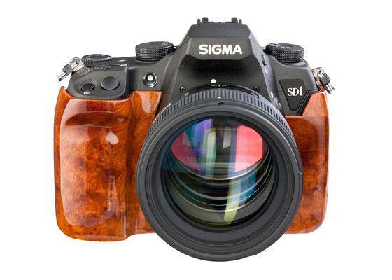 Корпус дорогого фотоаппарата отделан редкой породой древесины