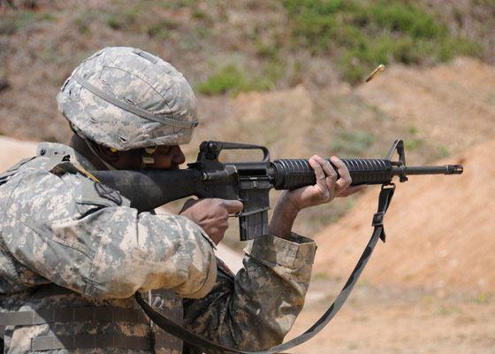 Мощная винтовка М16