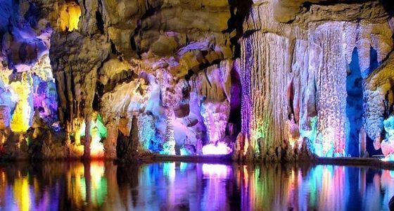 Пещера тростниковой флейты в Китае известна во всем мире