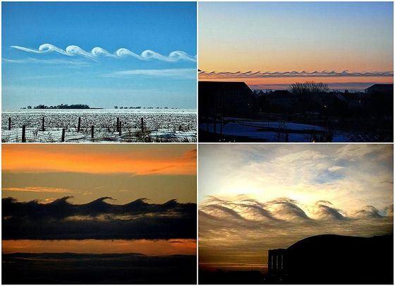 Необычные облака Кельвина-Гельмгольца всегда «плывут» в сторону берега