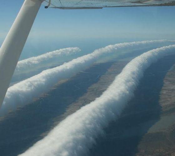 Так выглядят необычные облака Глори сверху