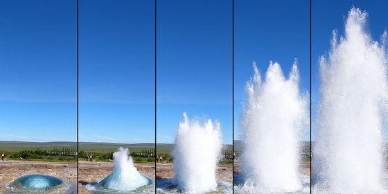 Так извергается один из самых необычных гейзеров