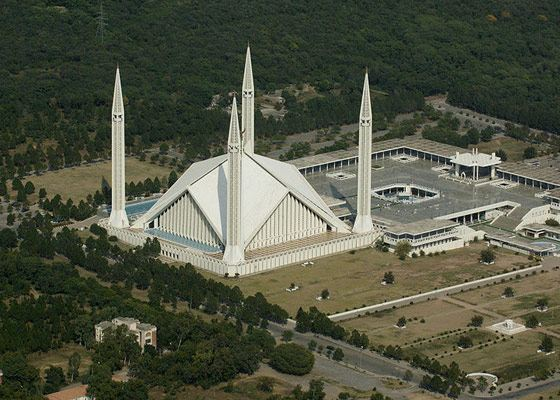 One of the largest mosques Shah Faisal