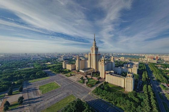 The main building of Moscow State University is the most recognizable building in Moscow.