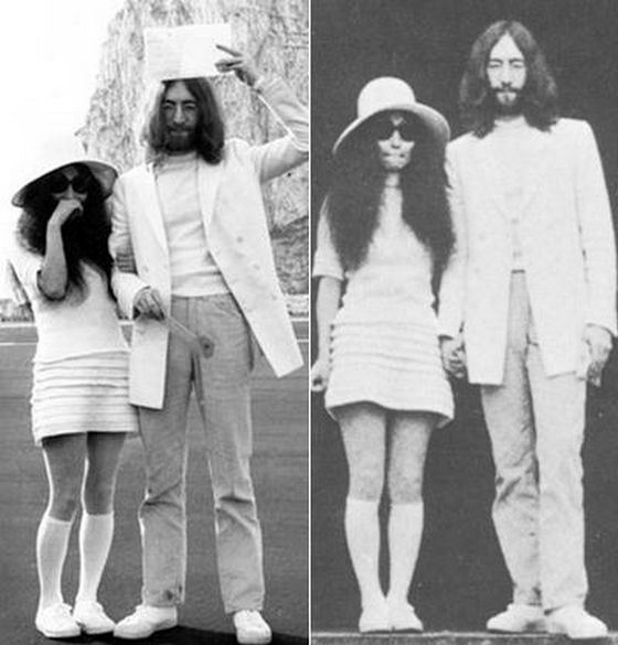 Свадебное платье Йоко Оно, жены Джона Леннона