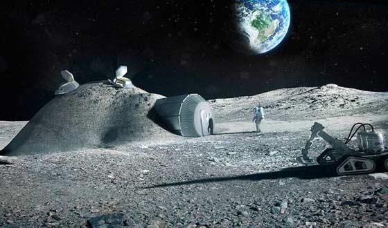 Технология 3D-печати позволит упростить ремонт поломок на орбите - а специалисты уже грезят о роботах-принтерах, «печатающих» человеческие колонии на Луне и Марсе