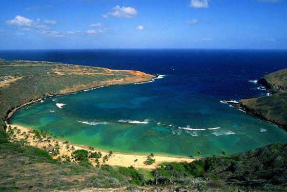 Самая красивая бухта на Гавайях - Бухта Ханаума