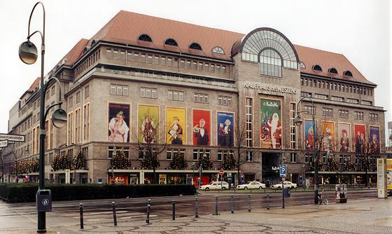 Shopping center Kaufhaus des Westens is one of the largest in Europe