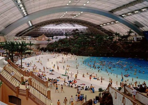 Inside the world's largest entertainment center, New Century Global Center, there is a beach