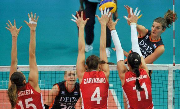 Волейболистки сборной России одержали победу над командой Нидерландов в матче ЧМ