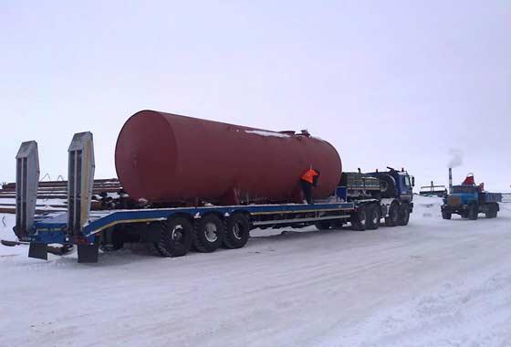 Тралы ЧМЗАП часто используются в суровых условиях нефтегазовых регионов России