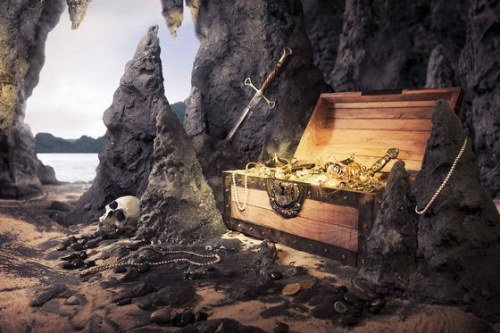 Pirate treasures are kept on the seabed