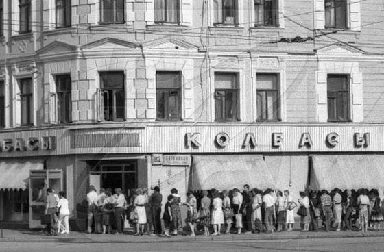 Знаменитые очереди в советских магазинах