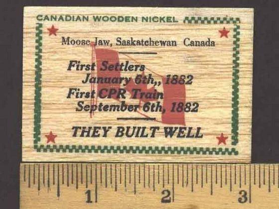 Vintage wooden money