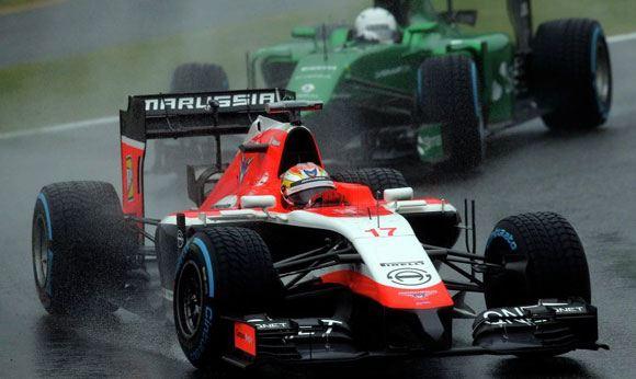 Гонщик Жюль Бьянки попал в аварию в ходе Гран-при Японии