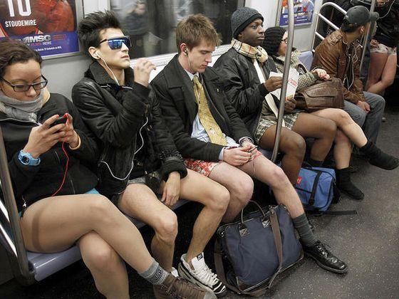 Необычный флешмоб в Нью-Йоркском метро