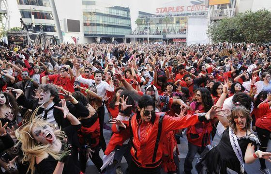 Flashmob dedicated to Michael Jackson