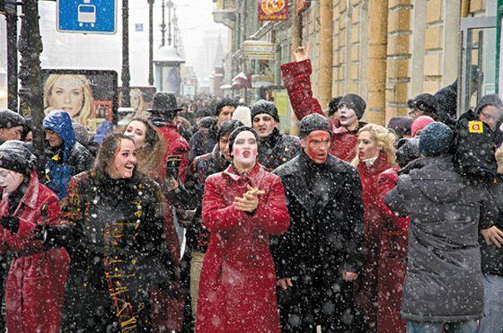 Театральный флешмоб в Петербурге