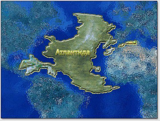 Карта древней Атлантиды