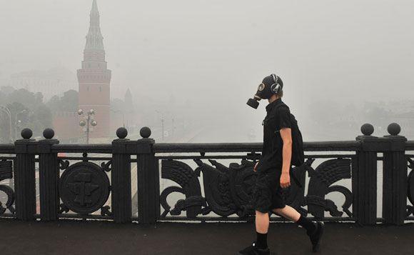 В августе 2010 года Москву тоже накрыло смогом