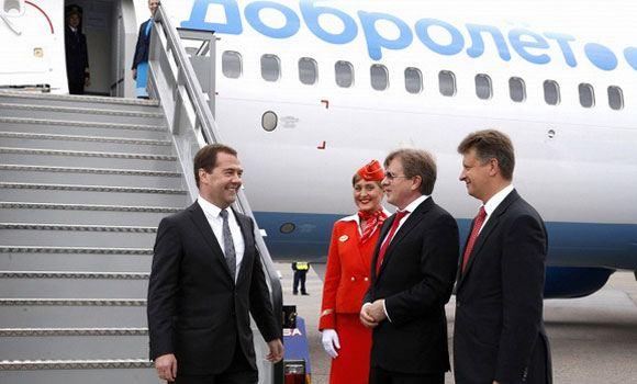 Медведев дает старт полетам «Добролета»